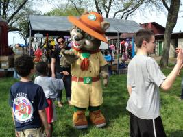 Image: Safety Fair Mascot, Project Green Wolf